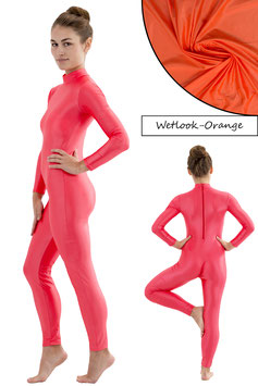 Damen Wetlook Ganzanzug RRV orange