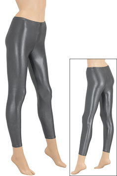 Damen Wetlook Leggings anthrazit