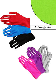 Kurze Handschuhe neongrün