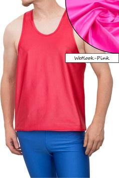 Herren Wetlook Boxerhemd Comfort Fit pink