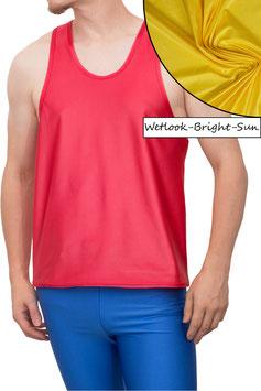 Herren Wetlook Boxerhemd Comfort Fit bright-sun