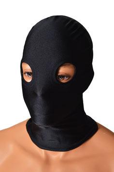 Kopfhaube (Maske) schwarz, mit Löchern für Augen