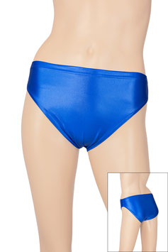 Damen Wetlook Slip royalblau