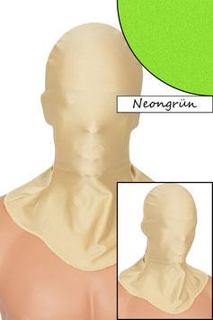 Kopfhaube geschlossen neongrün