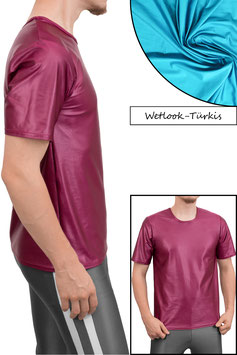Herren Wetlook T-Shirt Comfort Fit türkis