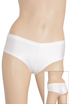 Damen Wetlook Panty weiß