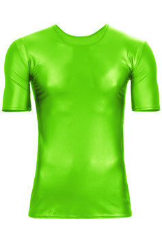 Herren Wetlook T-Shirt Slim Fit neongrün