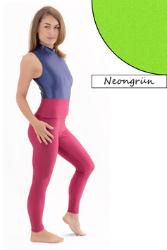 Damen Leggings High-Waist neongrün