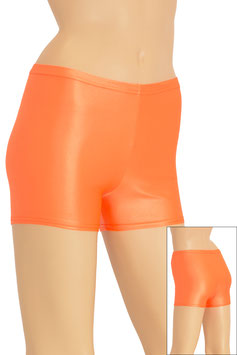 Damen Wetlook Hotpant orange