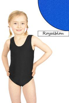 Kinder Turnanzug ohne Ärmel royalblau