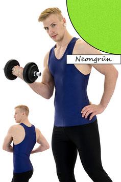 Herren Boxerhemd Slim Fit neongrün