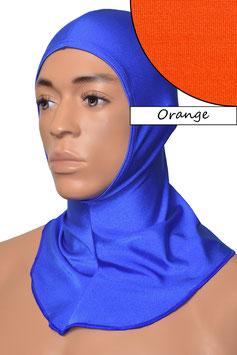 Kopfhaube offen orange