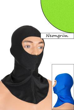 Sturmhaube Augen+Nase offen neongrün