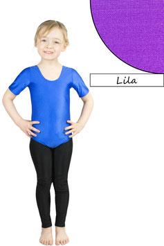 Kinder Gymnastikanzug kurze Ärmel lila