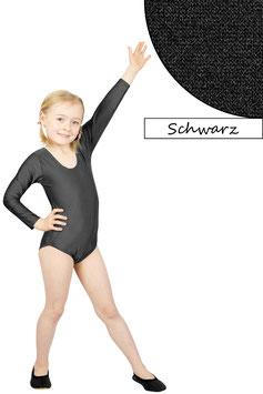 Kinder Gymnastikanzug lange Ärmel schwarz