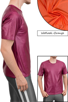 Herren Wetlook T-Shirt Comfort Fit orange