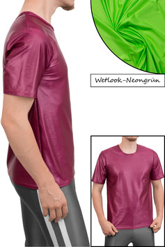 Herren Wetlook T-Shirt Comfort Fit neongrün