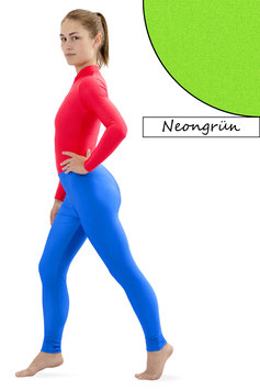 Damen Leggings neongrün