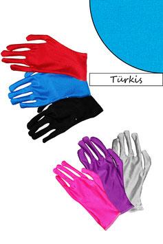 Kurze Handschuhe türkis