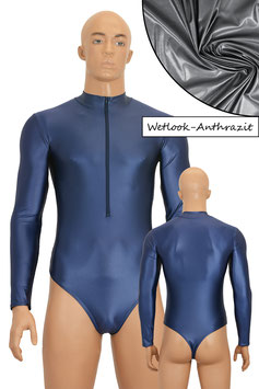 Herren Wetlook Stringbody lange Ärmel FRV anthrazit