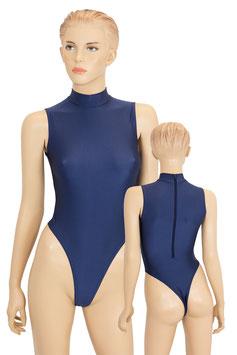 Damen Stringbody RRV+Kragen ohne Ärmel marine