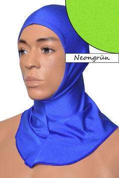Kopfhaube offen neongrün