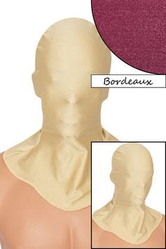 Kopfhaube geschlossen bordeaux