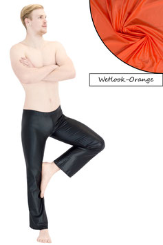Herren Wetlook Jazzpant orange