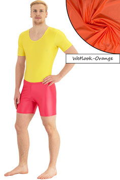 Herren Wetlook Hotpant orange
