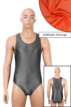 Herren Wetlook Body Boxerschnitt orange
