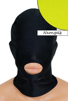 Kopfhaube (Maske) neongelb, Mund offen