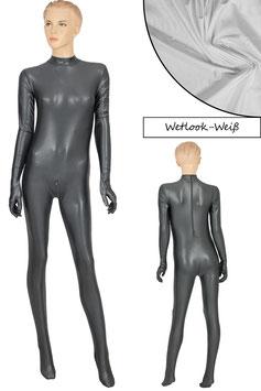 Damen Wetlook Ganzanzug RRV+SRV+Hand+Fuß weiß