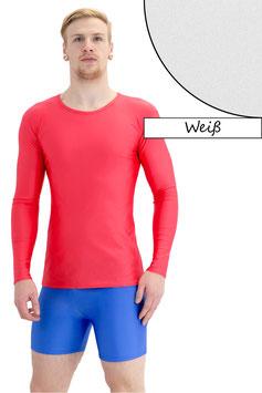 Herren Longsleeve T-Shirt Slim-Fit weiß