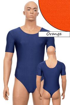 Herren Stringbody kurze Ärmel orange