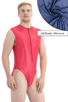 Herren Wetlook Body ohne Ärmel Front-RV marine
