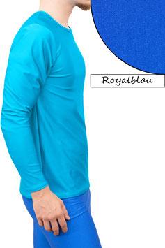 Herren Longsleeve T-Shirt Comfort Fit royalblau