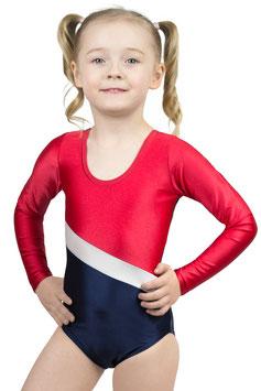 "Kinder Gymnastikanzug ""Bertha"" rot-weiß-dunkelblau"