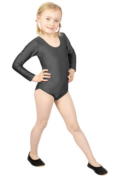Kinder Gymnastikanzug lange Ärmel anthrazit