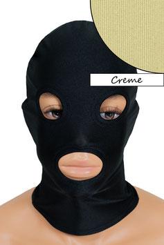 Kopfhaube (Maske) creme, mit Löchern für Mund und Augen