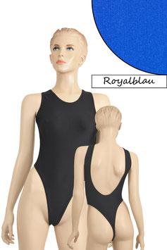Damen Stringbody tiefer Rückenausschnitt Royalblau