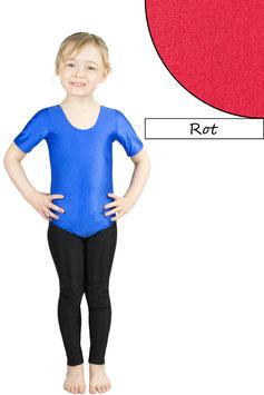 Kinder Gymnastikanzug kurze Ärmel rot