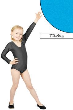 Kinder Gymnastikanzug lange Ärmel türkis