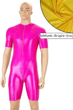 Herren Wetlook Ganzanzug kurze Ärmel kurze Beine FRV+SRV bright-sun