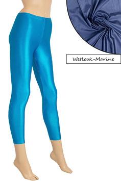 Damen Wetlook Leggings marine