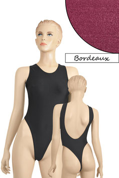 Damen Stringbody tiefer Rückenausschnitt Bordeaux