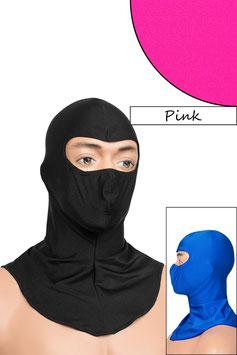 Sturmhaube Augen offen pink