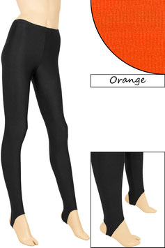 Kinder Leggings mit Steg orange