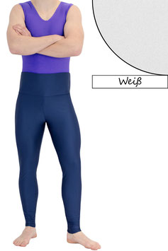 Herren Leggings High-Waist weiß