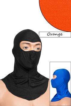Sturmhaube Augen offen orange