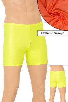 Herren Wetlook Hotpant SRV orange